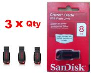 Combo Of 3 Sandisk 8GB Cruzer Blade Pendrive