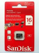 Sandisk 16GB Micro SDHC Memory Card Class-4 waterproof