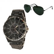 Executive Watch For Men Aviator Sunglasess - Mfwav6