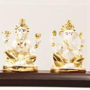 Ghasitaram Gifts-White Laxmi Ganesha In Cabin