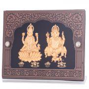 Ghasitaram Gifts LMGF19 24 Kt Pure Gold Leaf Laxmi Ganesha In Frame