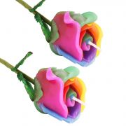 Candle - Set Of 2 Rose Candles