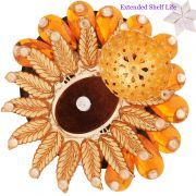 Ghasitaram Gifts -Orange Sun Floating Light Diya