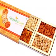 Dryfruits- Ghasitaram's Orange Dryfruit Box 200 Gms