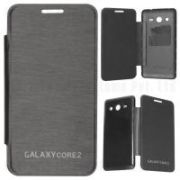 Samsung Galaxy Core 2 G355h Flip Cover Case Black