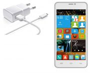 Micro USB White Charger For Karbonn A21+