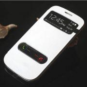 Samsung Galaxy Core I8262 S View Flip Cover Case (White)