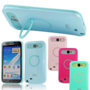 Samsung Galaxy Note 2 N7100 I-Glow Ring Stand Case With Free Screen Guard