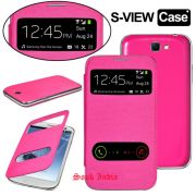 Samsung Galaxy Grand Neo GT-I9060 S View Flip Cover & Screen Guard (Pink)