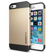 Apple IPhone 5S Spigen Slim Armor Hybrid Shockproof Back Case Cover (Gold)