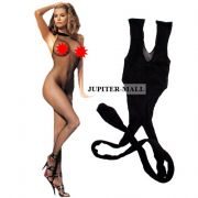Full Body Stockings Lingerie Net Halter Socks Hose Bikini Bra Panty -BS01