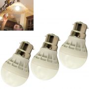 Set Of 3pcs 3w High Power Led Bulb For Pure, White, Cool, Safe Light - 01