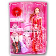 Barbie Doll Set with Beautiful Trendy Dresses kids Toys Toy Baby Gift -20