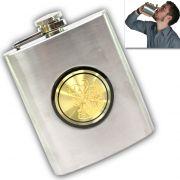 07 Oz STAINLESS STEEL Drinks Hip Pocket Wine Flask Screw Cap - 47