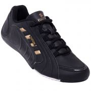 Fuzion Black & Gold Sports Shoes