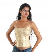 Bebe Party Sleeveless Self Design Women's Top Womens Corset