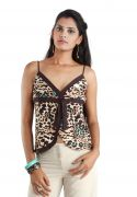 UK Party Sleeveless Animal Print Women Top