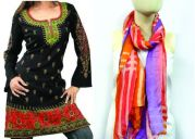 Princess Long Indian Kurti Tunic With Free Passigatti Brand Scarf