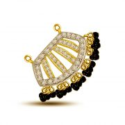 Surat Diamond Fanciful Two Tone Diamond Mangalsutra Pendant For My Love DN307