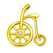 Surat Diamond Peddling Along With Diamond Wheel Pendant In 18k P793