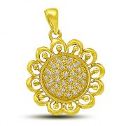 Surat Diamond Sunflower Pendant Of Diamond & Gold. P849