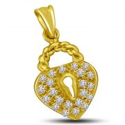 Surat Diamond The Wedding Knot 0.15CT Gold & Diamond Pendant For Your Beautiful LOVE P868