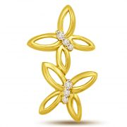 Surat Diamond A Soft Touch ..Butterflies Diamond Gold Pendant For Her P967
