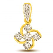 Surat Diamond North South East West .You Are The Best Diamond Pendant P997