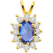 Surat Diamond Diamond & Sapphire Pendant P-515 -  P515