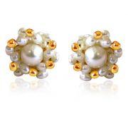 Surat Diamond Golden Pearl Surprise Earrings SE19