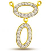 Surat Diamond -  The Power Of Love Two Tone Diamond & Gold Pendant - DN194