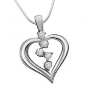 Surat Diamond Gifts Of Love - Real Diamond & Sterling Silver Pendant With 18 Inch Chain