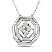 Surat Diamond Bundle Of Joy - Real Diamond & Sterling Silver Pendant With 18 Inch Chain