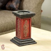 Black And Red Hand Painted Candle Holder