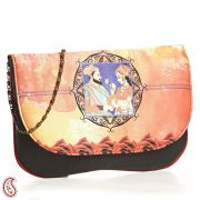 Ethnic Royal Couple Digital Print Evening Bag