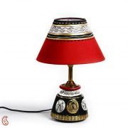 Black, Gold And Red Terracotta Base Table Lamp