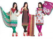 Salwar Studio Pack Of 3 Synthetic Dress Material With Dupatta 5005-5011-5013