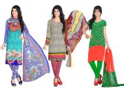 Salwar Studio Pack Of 3 Synthetic Dress Material With Dupatta 5018B-5025-5026