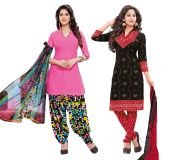 Salwar Studio Pack Of 2 Synthetic Dress Material With Dupatta 9015-9017_B