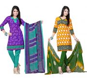 Salwar Studio Pack Of 2 Synthetic Dress Material Rz Combo - 1
