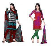 Salwar Studio Pack Of 2 Synthetic Dress Material Rz Combo - 2