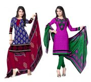 Salwar Studio Pack Of 2 Synthetic Dress Material Rz Combo - 3