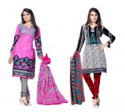 Salwar Studio Pack Of 2 Synthetic Dress Material Rz Combo - 4