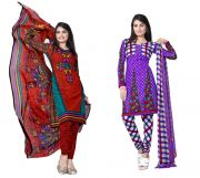 Salwar Studio Pack Of 2 Synthetic Dress Material Rz Combo - 5