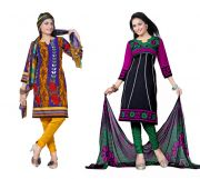 Salwar Studio Pack Of 2 Synthetic Dress Material Rz Combo - 7
