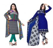 Salwar Studio Pack Of 2 Synthetic Dress Material Rz Combo - 8