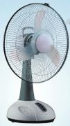 Brite 18 Inch Rechargeable Oscillating Fan With Led Light Ac / Dc Jumbo Siz