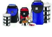 Stenso Presto Lunchbox With Airtight Stainless Steel Containers And Pouch