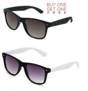 Buy 1 Black Wayfarer Sunglasses And Get 1 White Wayfarer Sunglasses Free