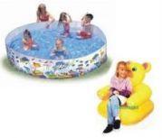 Swimming Pool 6 Feet & Teddy Beanless Sofa Chair
